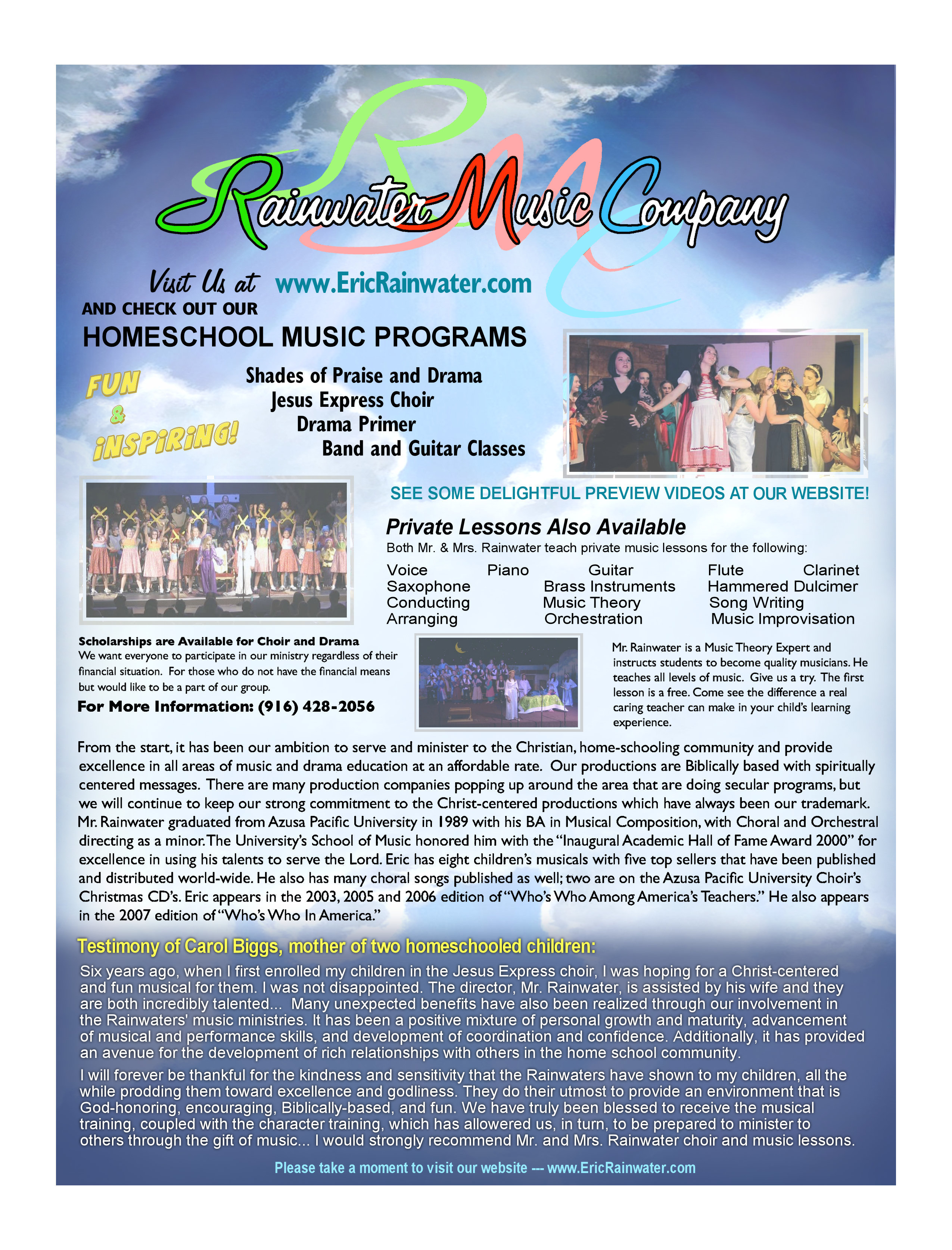 Rainwater Homeschool Music Programs: PRIMER CHOIR