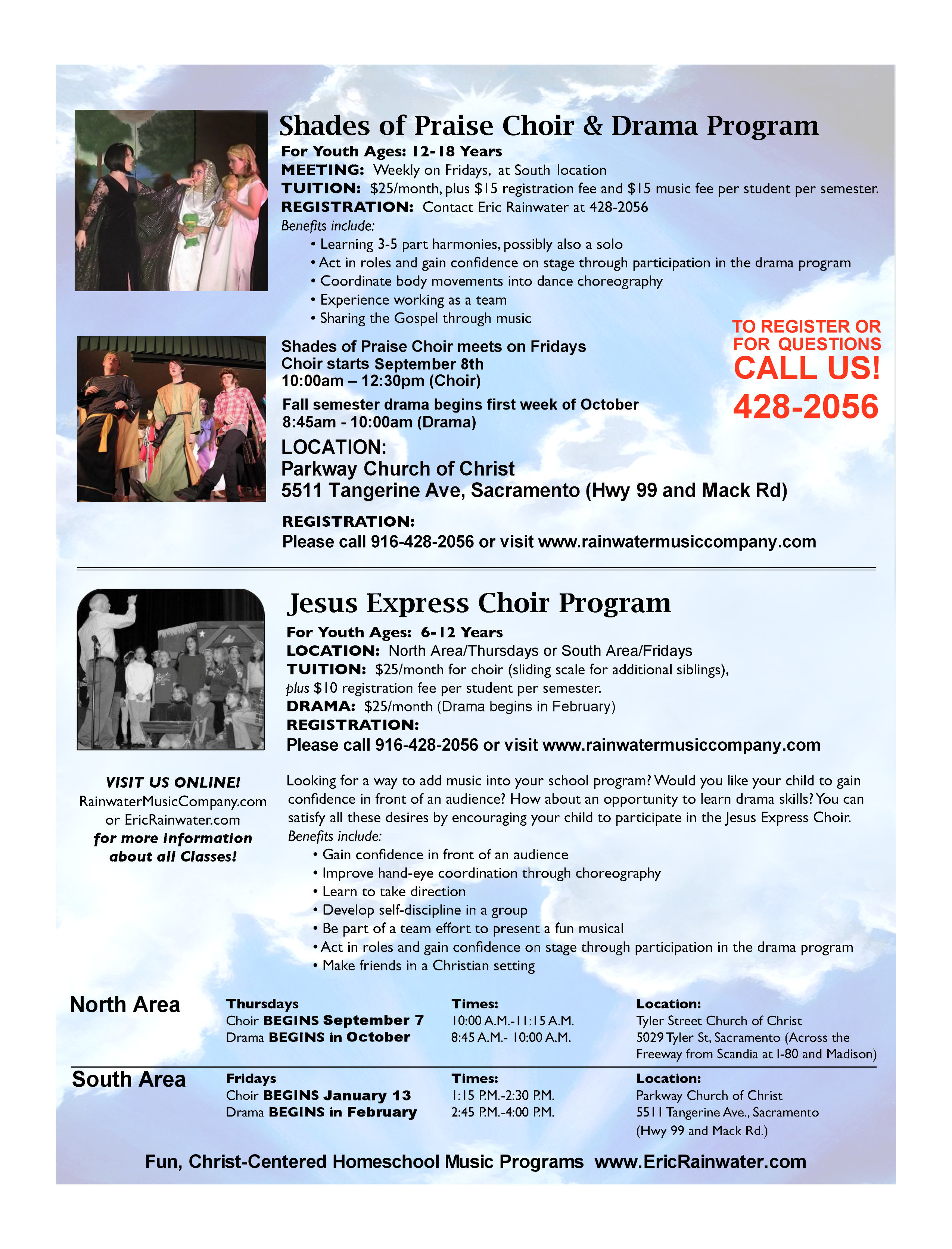 Rainwater Homeschool Music Programs: CHOIR & DRAMA