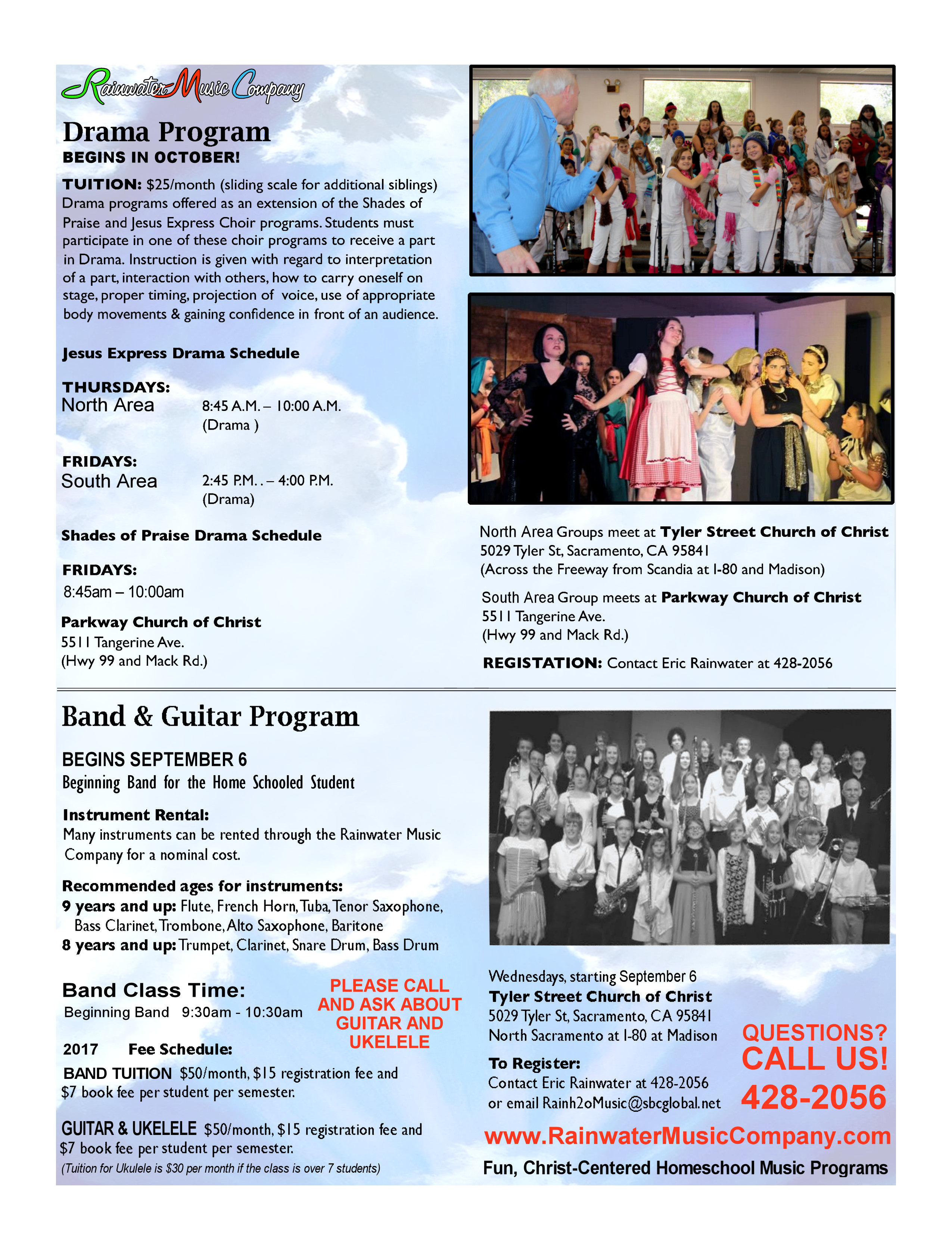 Rainwater Homeschool Music Programs: BAND & GUITAR PROGRAM